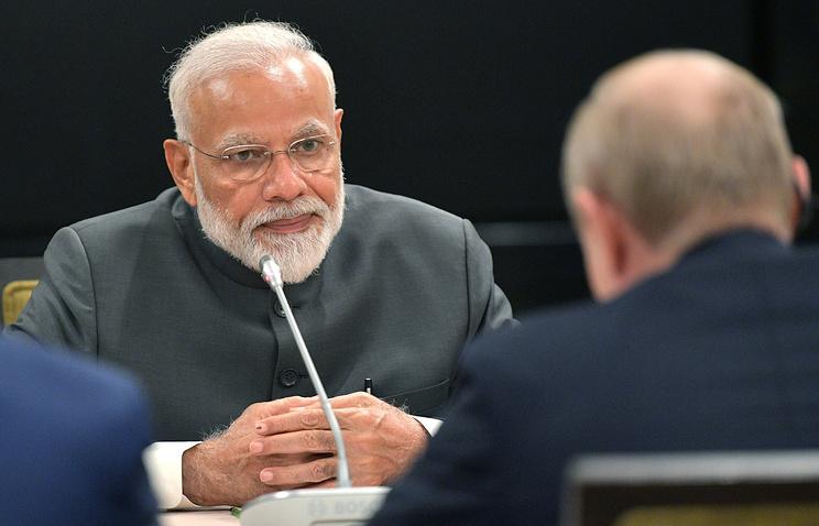 Indian Prime Minister Narendra Modi and Russian President Vladimir Putin