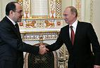 Вице-президент Ирака Нури аль-Малики и президент России Владимир Путин