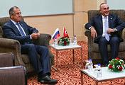 Министр иностранных дел РФ Сергей Лавров и министр иностранных дел Турции Мевлют Чавушоглу