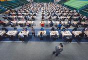 Молодые шахматисты на турнире в Ханты-Мансийске