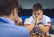 Российский шахматист Максим Вавулин на турнире в Ханты-Мансийске