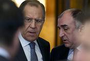 Министры иностранных дел России и Азербайджана Сергей Лавров и Эльмар Мамедъяров