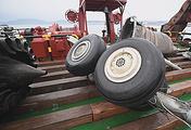 Обломки потерпевшего крушение самолета Ту-154 Минобороны РФ