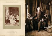 """Фотография с натуры. Иллюстрация из """"Художественного альбома"""", 1870-80 гг. и """"Автопортрет. 1880-е гг."""""""