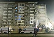 На месте обрушения части жилого дома в Ижевске