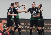 Игроки Евгений Марков, Раде Дугалич, Антон Заболотный и Рустем Мухаметшин (слева направо)