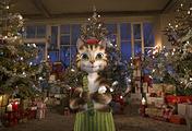 """Кадр из мультфильма """"Петсон и Финдус: лучшее на свете Рождество"""""""