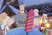 """Кадр из мультфильма """"Три богатыря и принцесса Египта"""""""