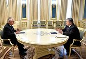 Госсекретарь США Рекс Тиллерсон и президент Украины Петр Порошенко