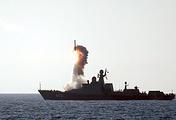 """Стрельба высокоточным оружием из ракетного комплекса """"Калибр-НК"""""""