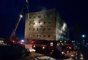 Во время тушения пожара в общежитии в Омской области 28 января