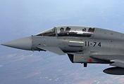 Cамолет ВВС Испании Eurofighter