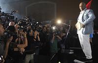 Майк Тайсон в центре внимания журналистов и фоторепортеров, июль 2012 года