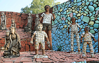 Скульптор-самоучка Нек Чанд работал над Садом камней около тридцати лет