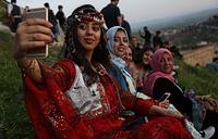 На праздновании Навруза в городе Акра в Иракском Курдистане