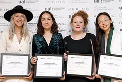 Победители конкурса (слева направо): Дженнифер Кусовски, Лаура Фернандес, Чарли Вилкинсон и Дяньжэнь Линь