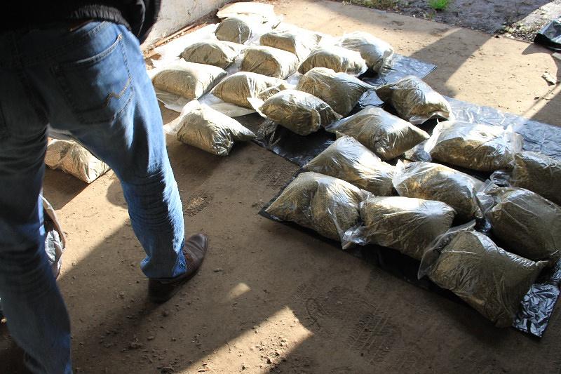 Наркотики, изъятые из гаражного бокса в Москве