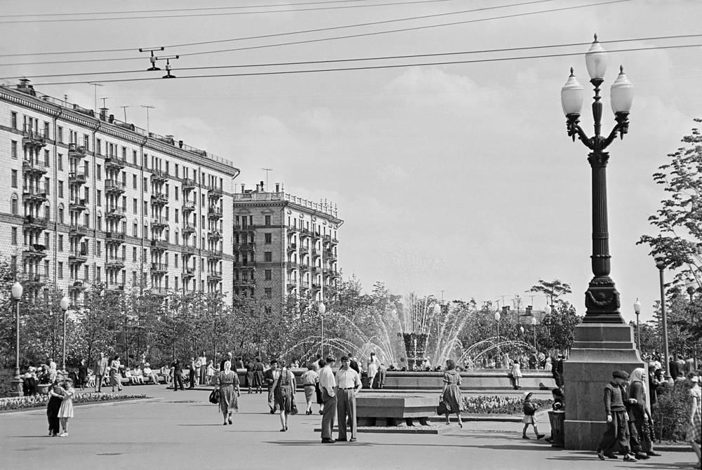 Улица Новопесчаная в Москве, 1957 г.