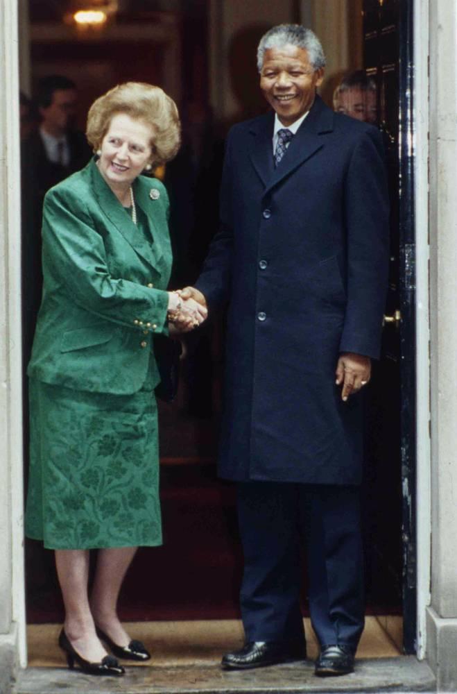Встреча Нельсона Манделы и Маргарет Тэтчер в Лондоне, 1990 г.
