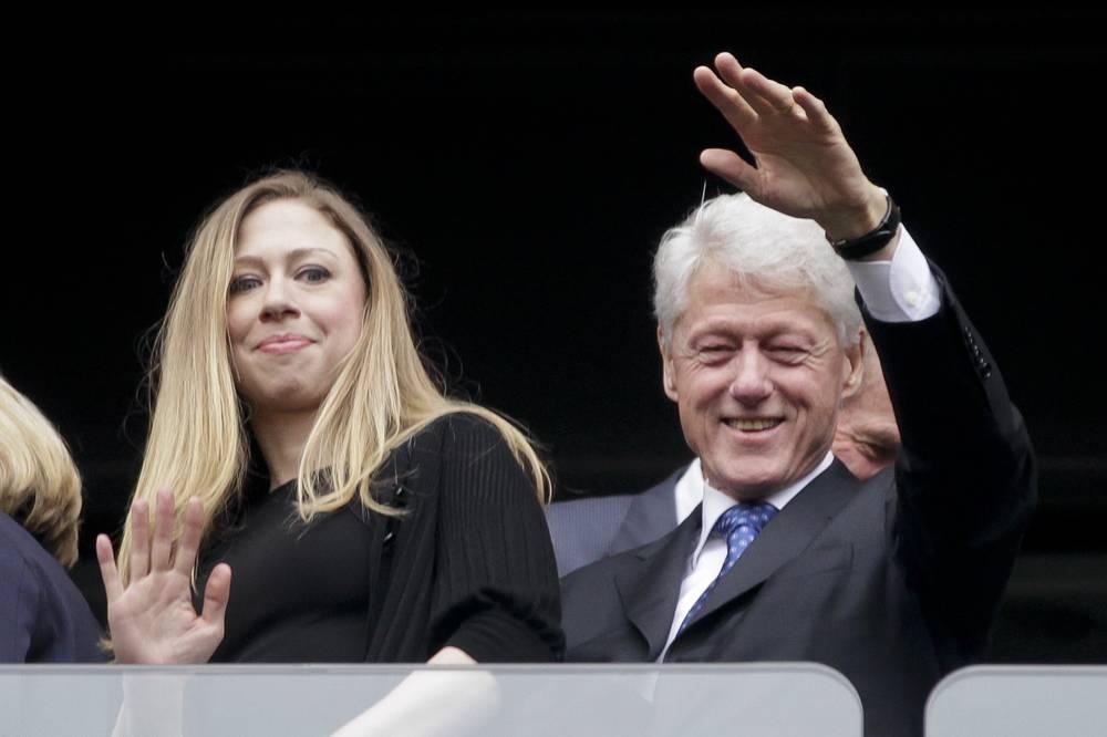 Билл Клинтон с дочерью Челси Клинтон