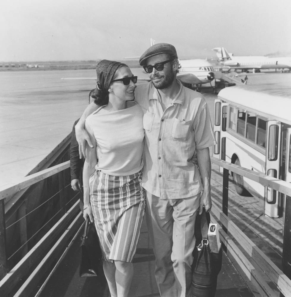 Питер О'Тул с женой, 1964