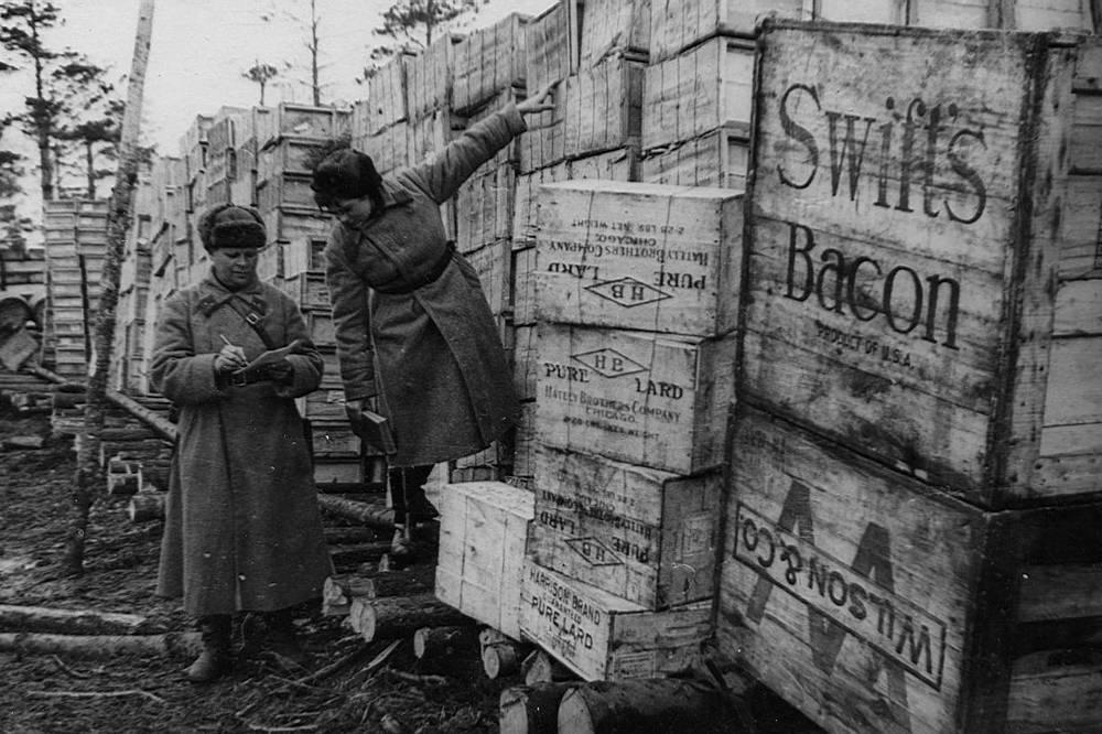 Транспортировка запасов поступивших по ленд-лизу