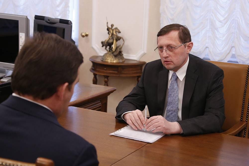 Губернатор Свердловской области Евгений Куйвашев и Министр культуры Павел Креков (слева направо)