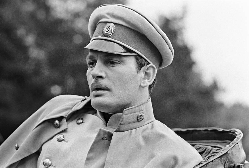 """В роли Вронского на съемках фильма """"Анна Каренина"""", 1967 год"""