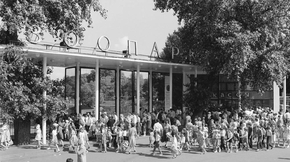 Вход в Московский зоопарк. 1975 год