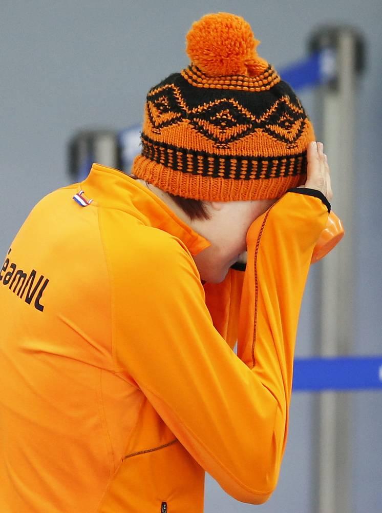 Голландская конькобежка Йорин тер Морс завоевала золото Олимпиады в Сочи на дистанции 1500 м