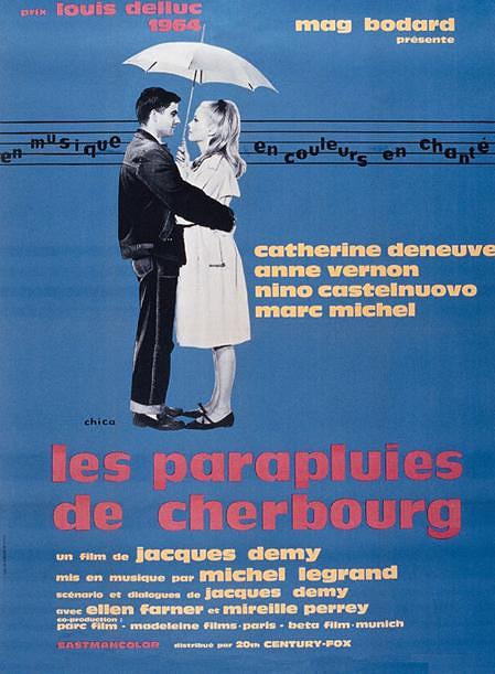 """Афиша фильма """"Шербурские зонтики"""", 1964 год"""
