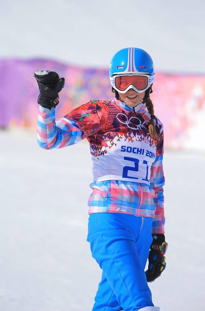 Российская сноубордистка Алена Заварзина, Российская сноубордистка Алена Заварзина завоевала бронзу Олимпиады в параллельном гигантском слаломе