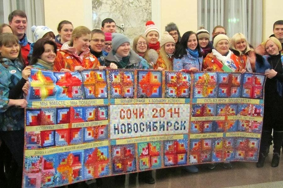 Лоскутное одеяло шили 70 новосибирских мастериц из семи клубов пэчворка