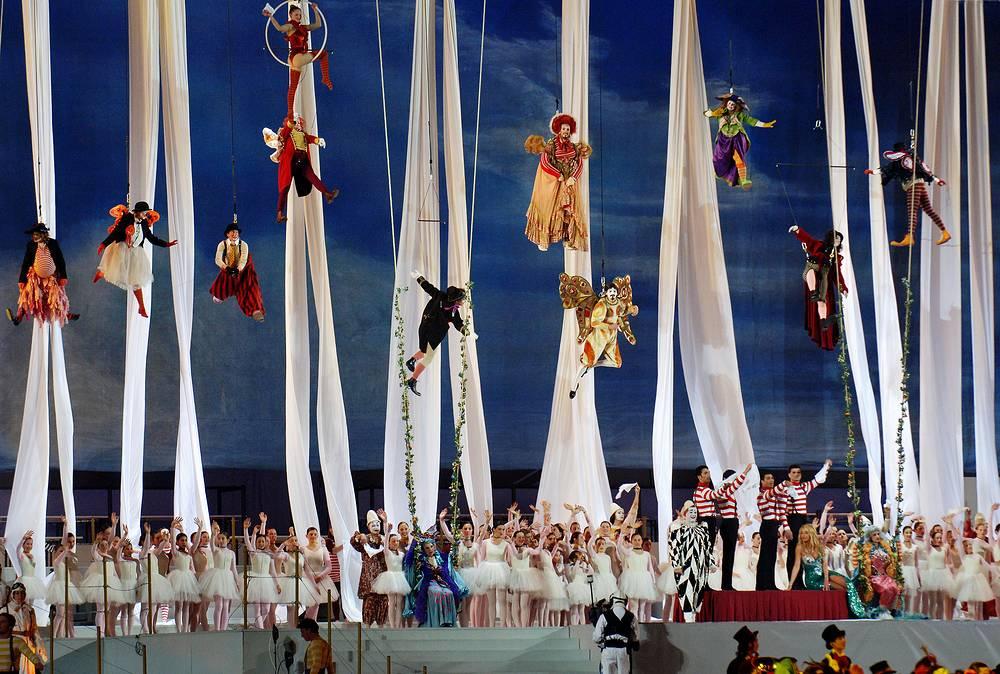 Церемония закрытия в Турине, Италия, 2006 год. XX зимние Олимпийские игры прошли с 10 по 26 февраля