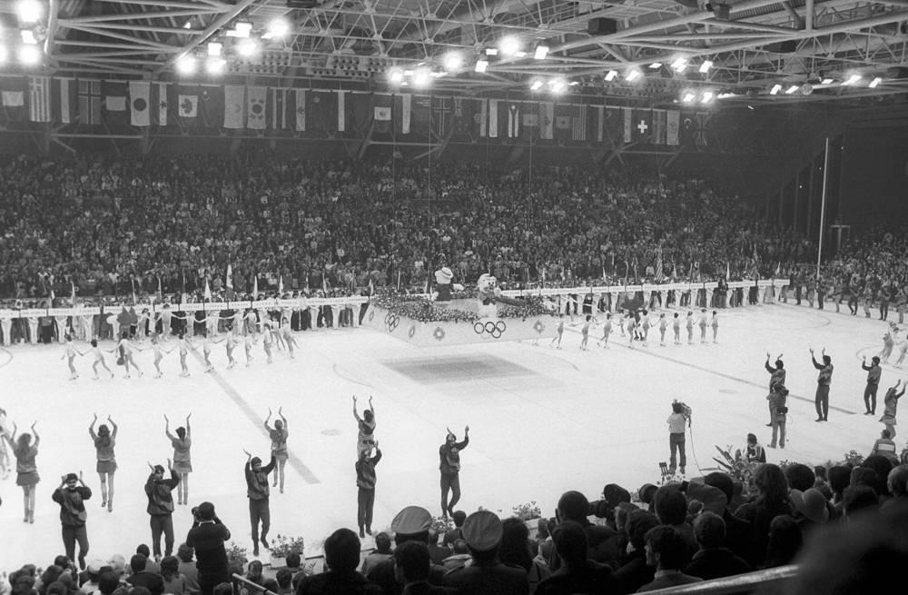 Церемония закрытия в Сараево, Югославия, 1984 год. XIV зимние Олимпийские игры проходили с 8 по 19 февраля