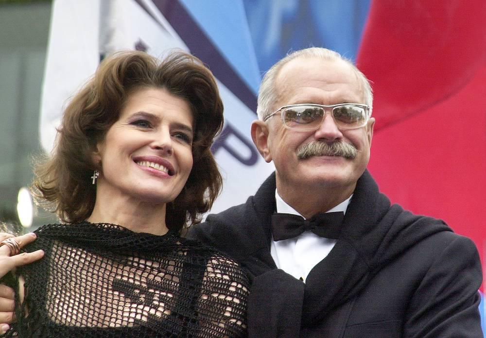 Фанни Ардан и Никита Михалков в Москве, 2003 год