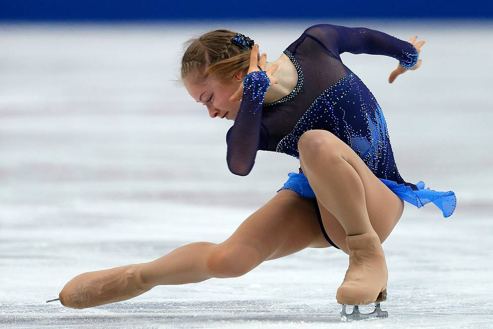 Юлия Липницкая на Чемпионате мира по фигурному катанию в Японии. 27 марта 2014 года