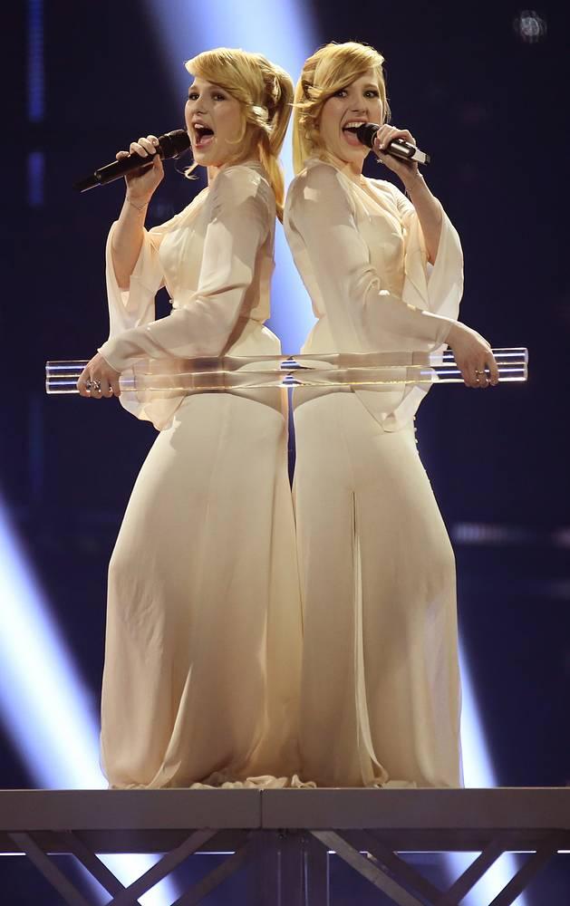 Сестры-близнецы Мария и Анастасия Толмачевы, занявшие седьмое место