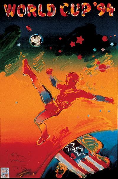 Плакат ЧМ-1994 в США. Бразильцы выиграли мировое первенство в четвертый раз, обыграв итальянцев - 0:0, 3:2 - по пенальти