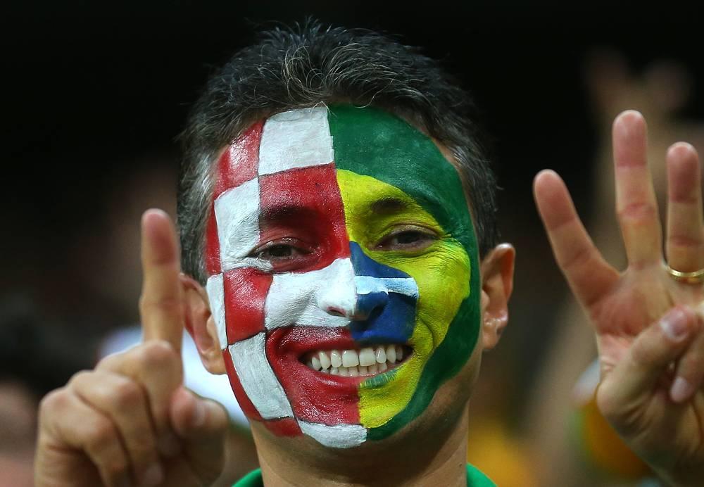 Этот болельщик приехал из хорватско-бразильской страны