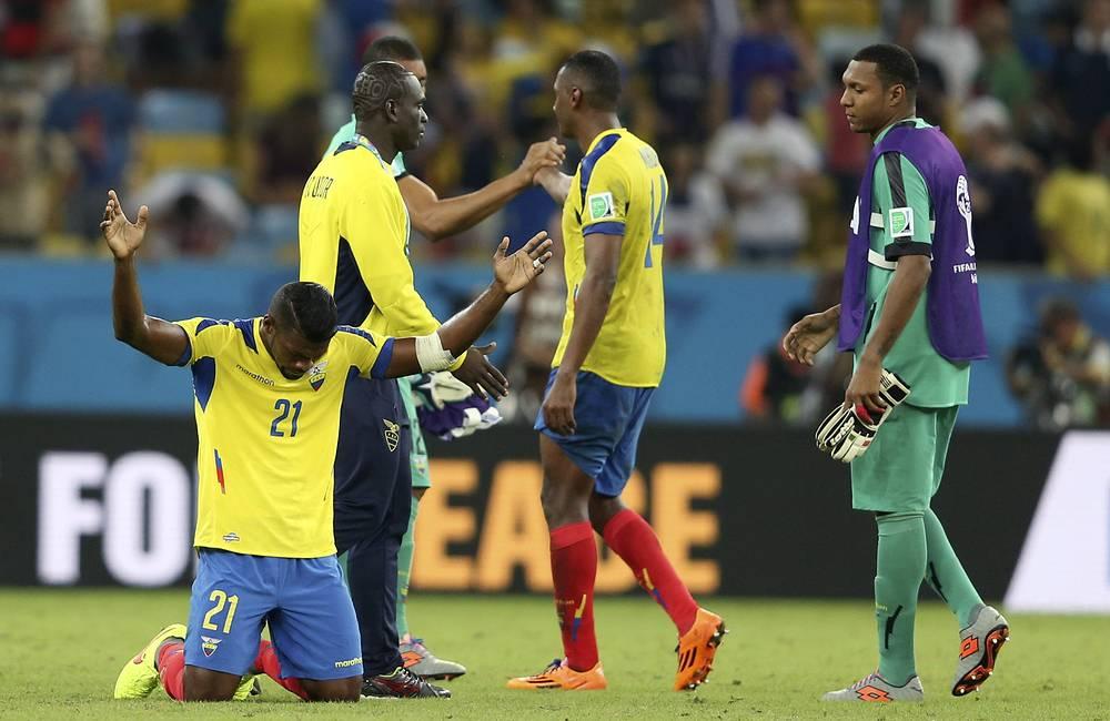 Досада и разочарование игроков сборной Эквадора