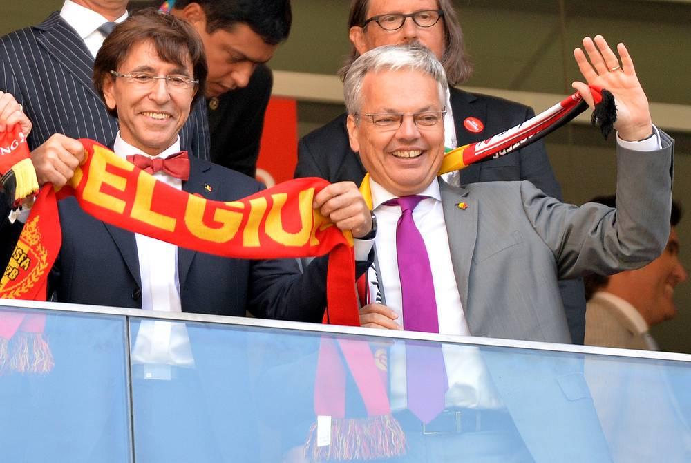 Встречу посетил премьер-министр Бельгии Элио Ди Рупо (слева)