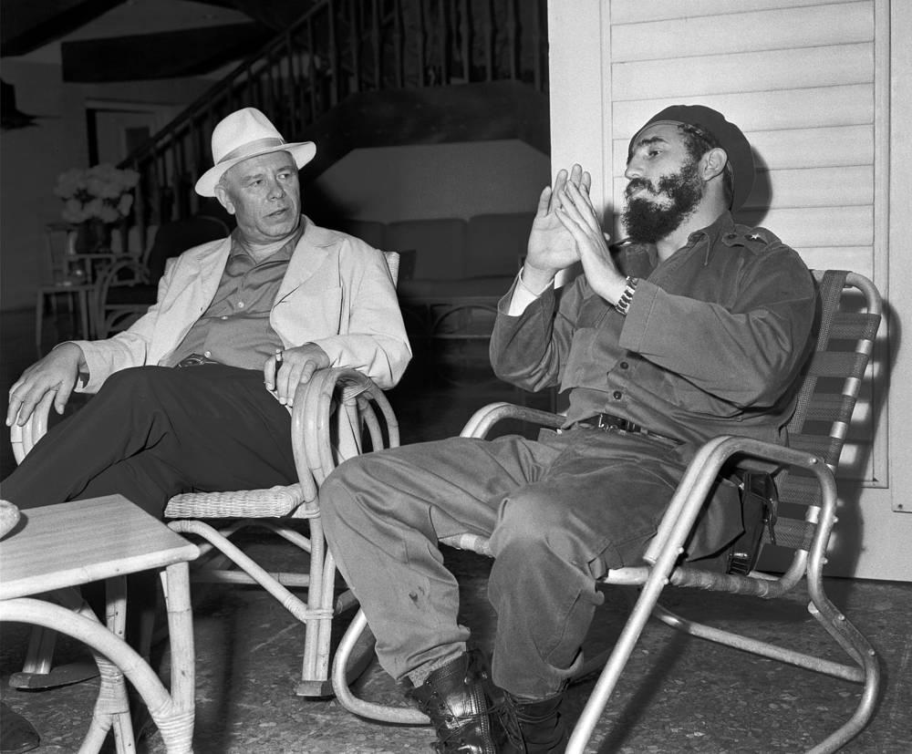 Секретарь ЦК КПСС Николай Подгорный и Фидель Кастро в Гаване, 1963 год