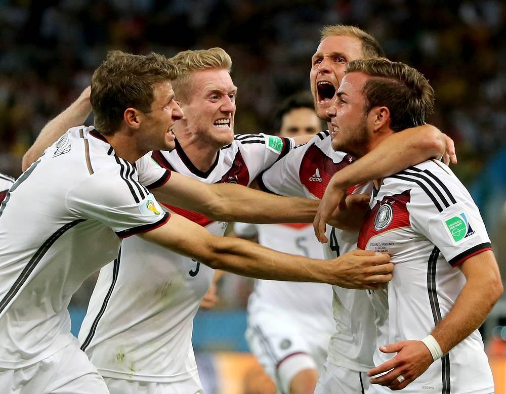 Ликование футболистов сборной Германии