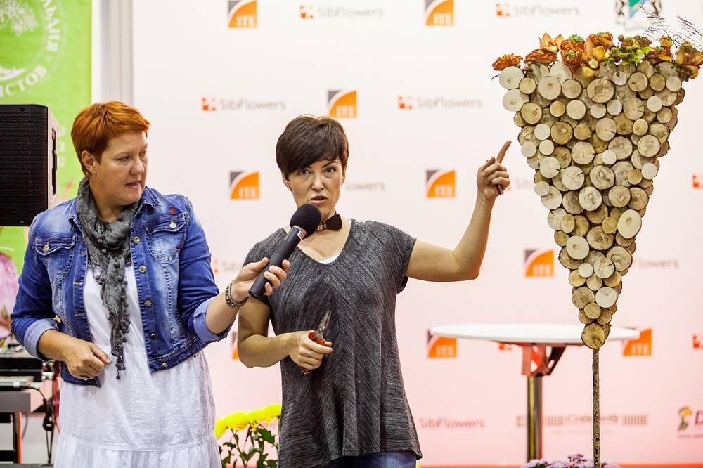 Одним из главных событий выставки стал открытый чемпионат Сибири по профессиональной флористике, который является этапом Чемпионата России