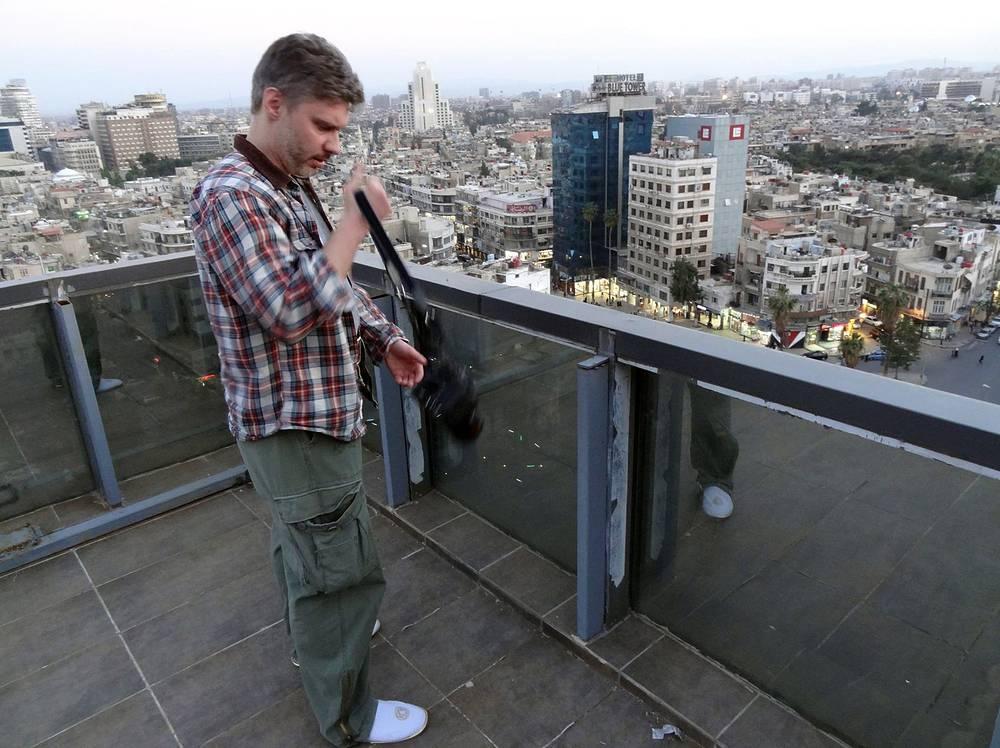 На крыше здания в Дамаске, Сирия