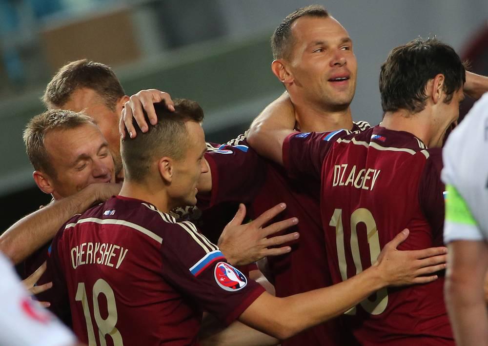 Российская сборная сумела быстро открыть счет в матче