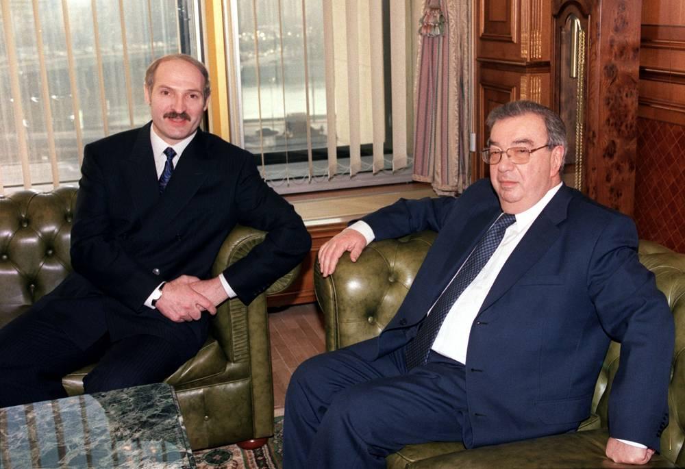 Встреча с президентом Белоруссии Александром Лукашенко в Москве, 1999 год