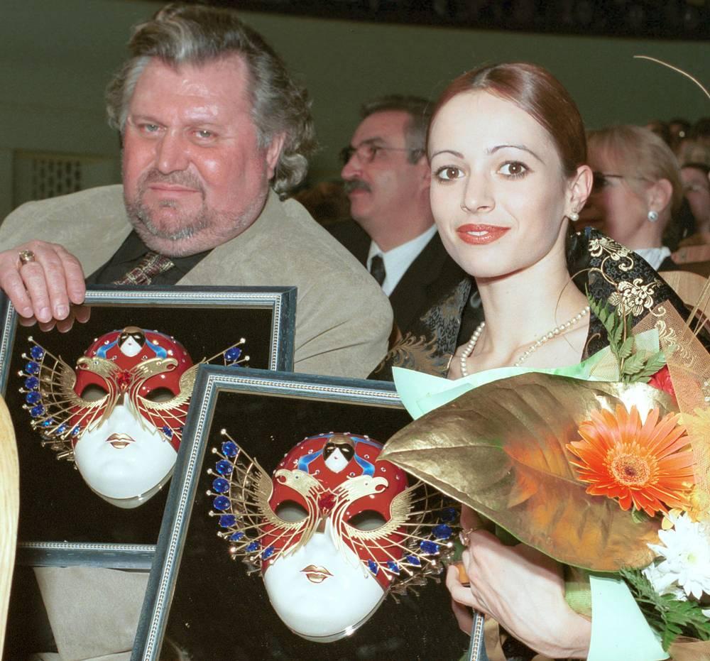 """Виктор Черноморцев и Диана Вишнева церемонии награждения премией """"Золотая маска"""" в 2001 году"""