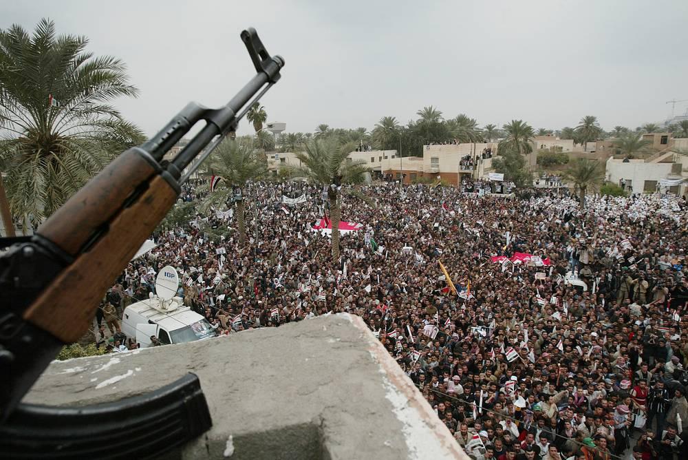 Ирак. Митинг недовольных результатами выборов в парламент, 23 декабря 2005 года
